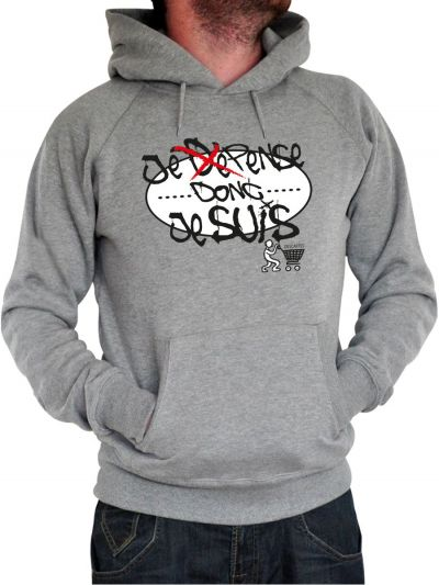 "Sweat homme ""Je dépense"""