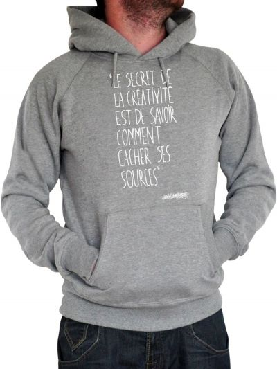 "Sweat homme ""Le secret"""