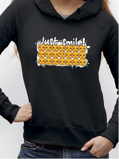 "Sweat femme ""Just smile"""