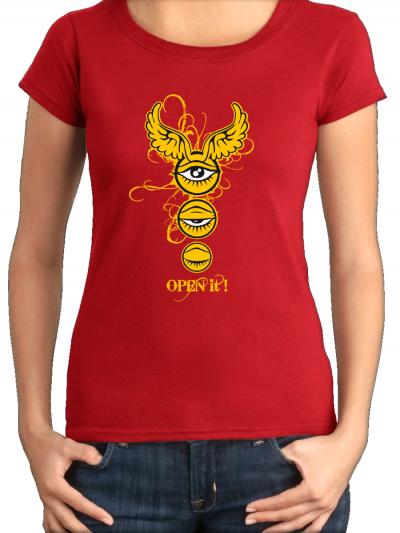 """T-shirt femme """"Open it"""""""