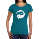 """T-shirt femme """"Recycle blanc"""""""