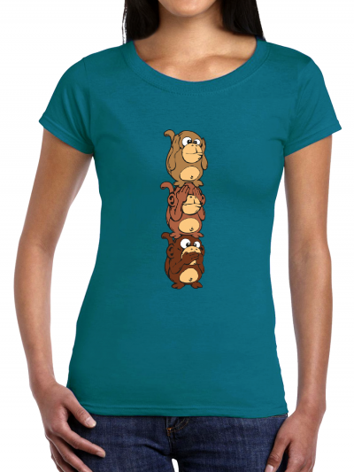 "T-shirt femme ""Singes verticale"""