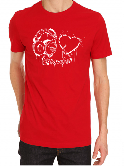 "T-shirt homme ""Ecoute ton coeur"""