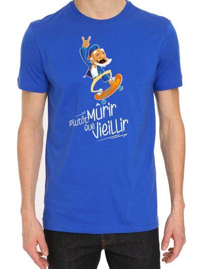 """T-shirt homme """"Plutot mûrir que vieillir"""""""