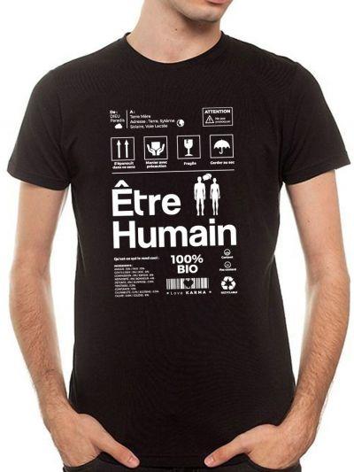 "T-shirt homme ""Etre Humain"""