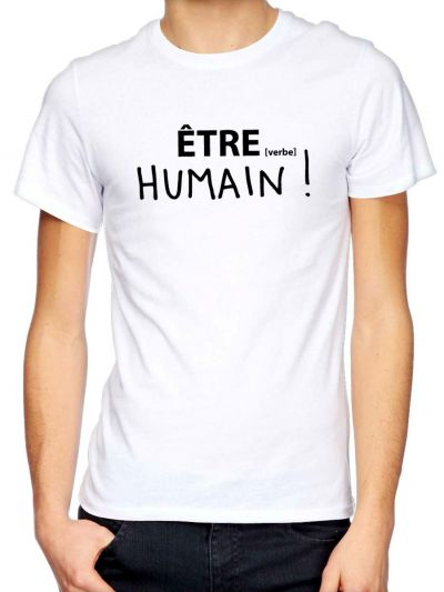 "T-shirt homme ""HUMAIN !"""