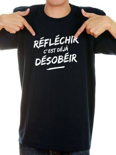 """T-shirt homme """"Reflechir"""""""