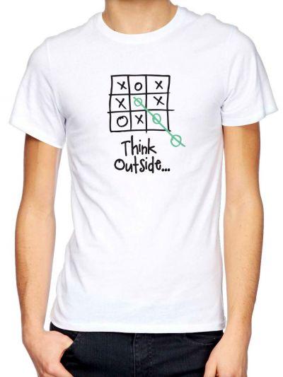 "Tee shirt homme original ""Think outside"" en coton biologique"