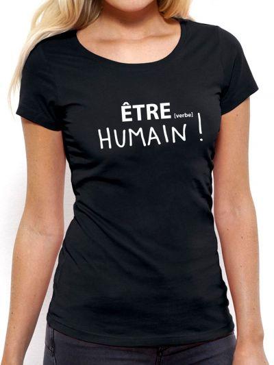 T-shirt femme HUMAIN !