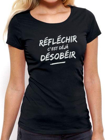 """T-shirt femme """"Reflechir"""""""
