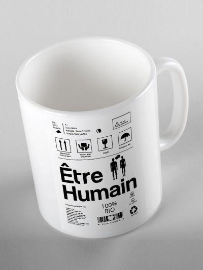 "MUG ""ETRE HUMAIN"""