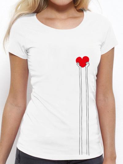 """T-shirt femme """"Coeur clair"""""""