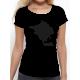 "T-shirt femme ""et merde noir"""