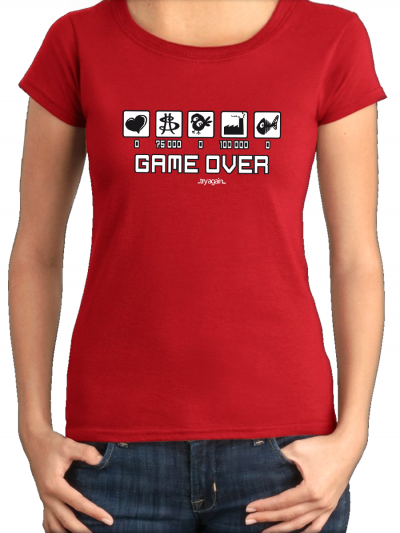 "T-shirt femme ""Game over"""