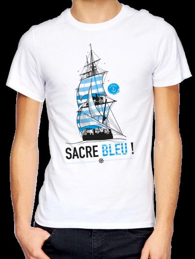 "T-shirt homme "" Sacre bleu"""