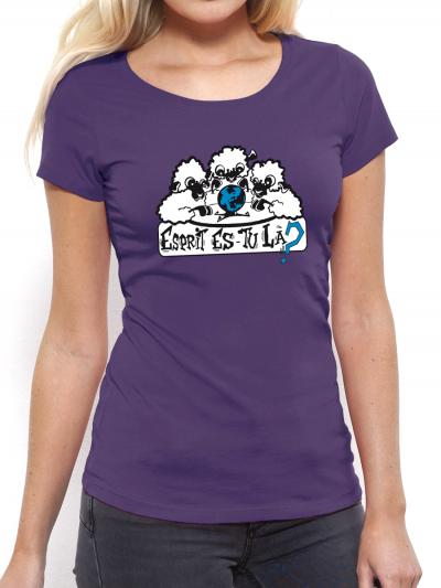 "T-shirt femme ""Esprit es tu la"""