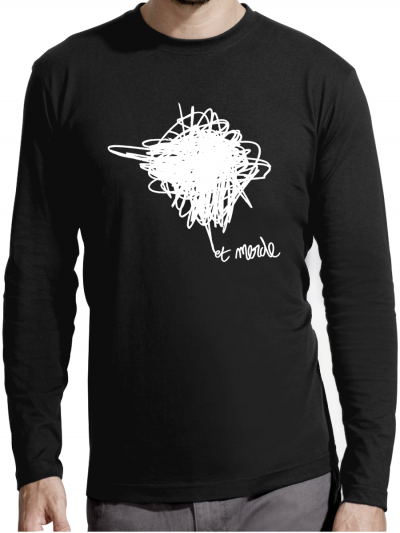 """T-shirt manches longues homme """"Et merde"""""""