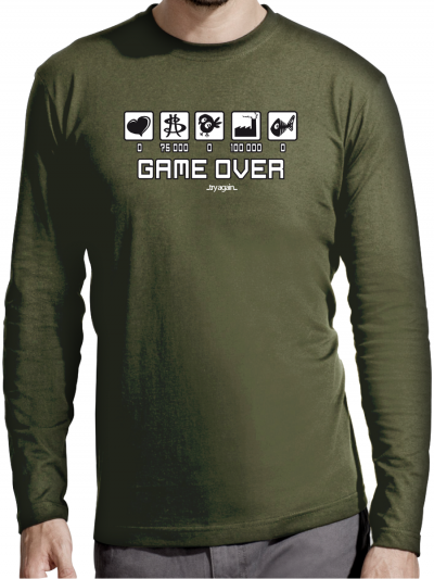 "T-shirt manches longues homme ""Game over"""