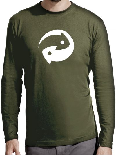 """T-shirt manches longues homme """"Recycle"""""""