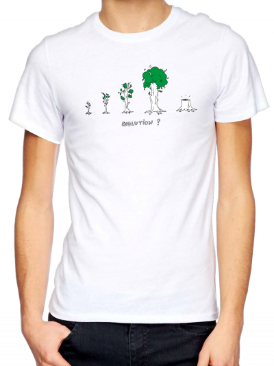"T-shirt homme ""Arbre evolution"""