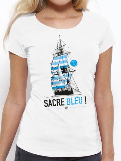 "T-shirt femme ""Sacre bleu"""