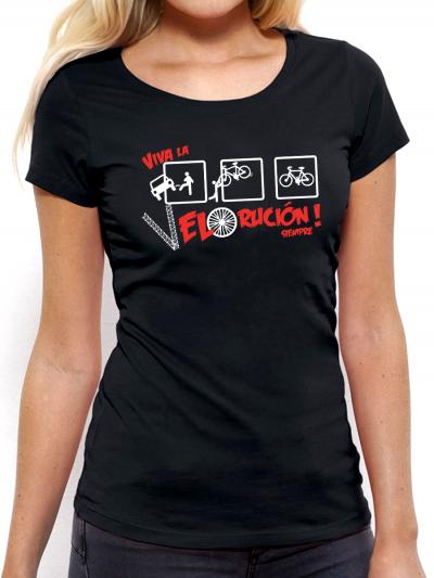 "T-shirt femme ""Vive la velorution"""