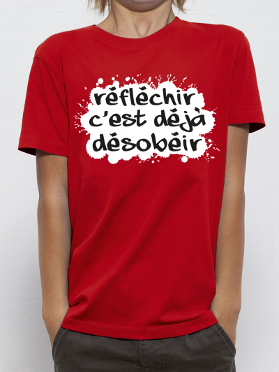 "T-shirt enfant ""Reflechir"""