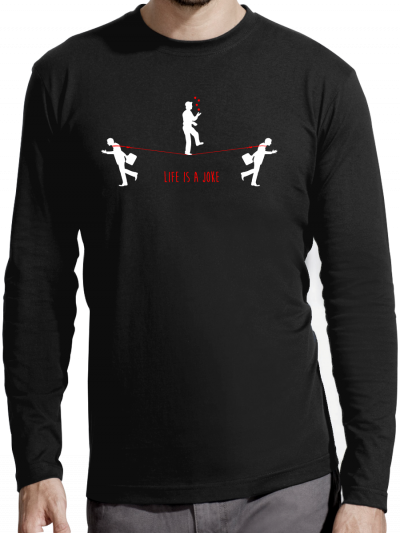 """T-shirt manches longues homme """"Life is a joke"""""""