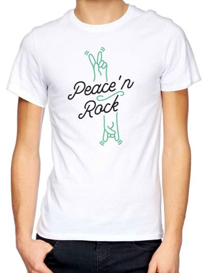"T-shirt homme ""Peace'n Rock"""