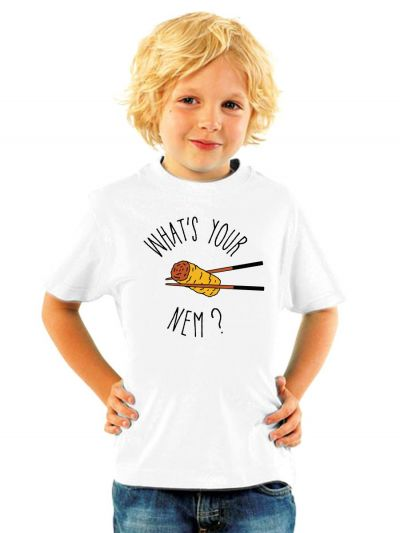 "T-shirt enfant ""What 's your nem ?"""