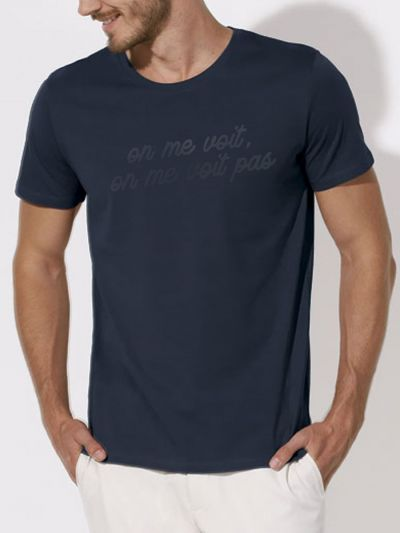 "Tee shirt homme ""On me voit, on me voit pas"""