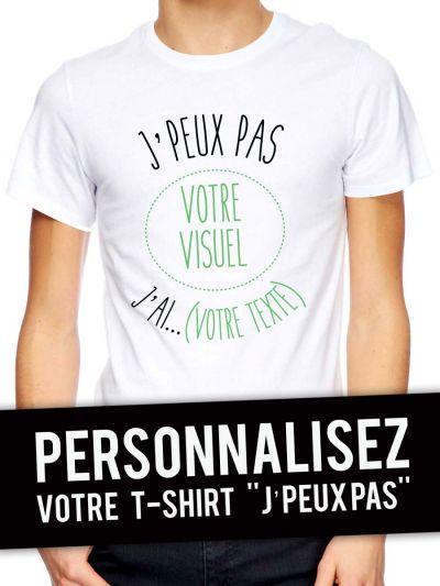 """Je personnalise Tshirt homme BIO """"Jpeux pas"""""""