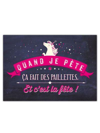 "Carte Postale ""Quand je pète..."""