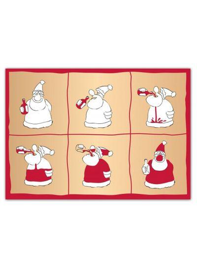 """Carte Postale double """"Père Noel"""""""