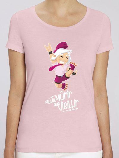 """T-shirt femme """"Plutôt murir que vieillir"""""""