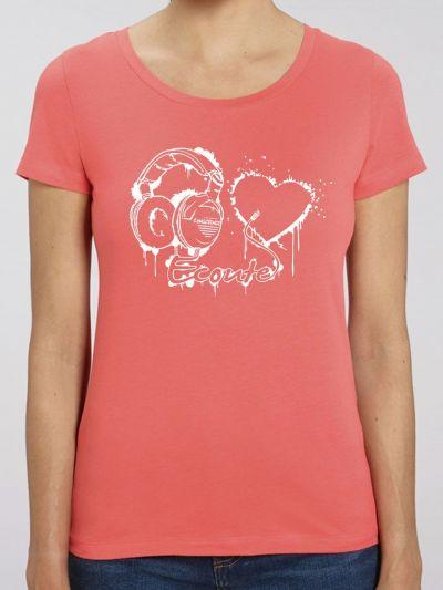 """T-shirt femme """"Écoute ton coeur"""""""