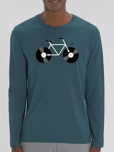 """T-shirt manches longues homme """"Velo Vinyle"""""""
