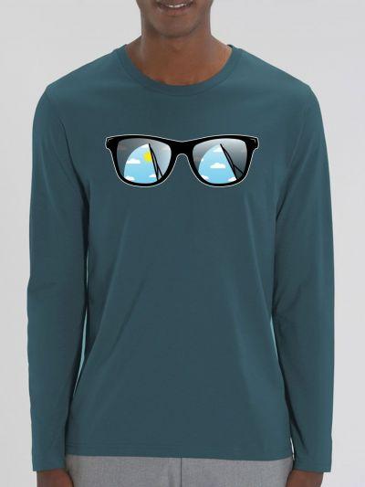 """T-shirt manches longues homme """"Lunette"""""""