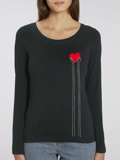 "T-shirt manches longues femme ""Coeur"