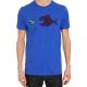 """Tee shirt homme """"Poissons unis """" bleu en coton biologique"""