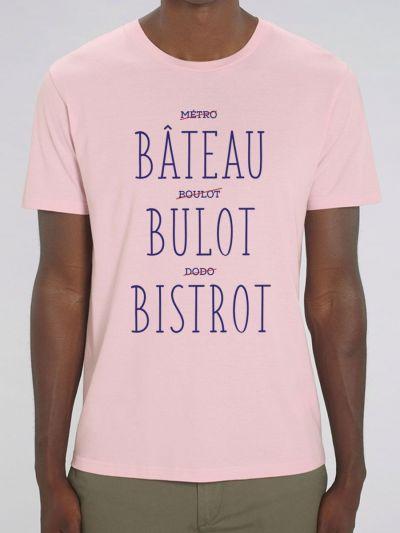 T-shirt Homme Bateau Bulot Bistrot