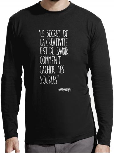 """T-shirt manches longues homme """"Le secret"""""""