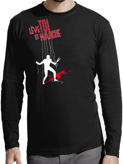 """T-shirt manches longues homme """"Lève toi"""""""