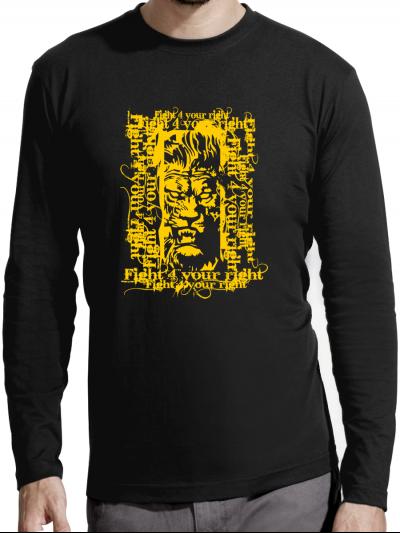 """T-shirt manches longues homme """"Lion"""""""