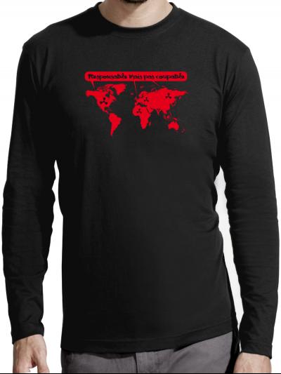 "T-shirt manches longues homme ""responsable"""