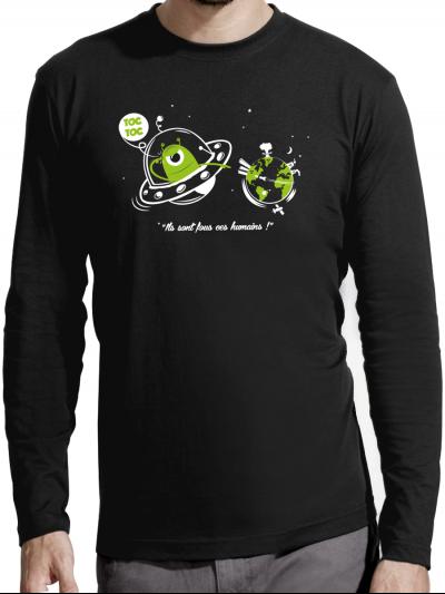 """T-shirt manches longues homme """"Toc toc"""""""